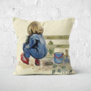 Diggin in the garden cushion