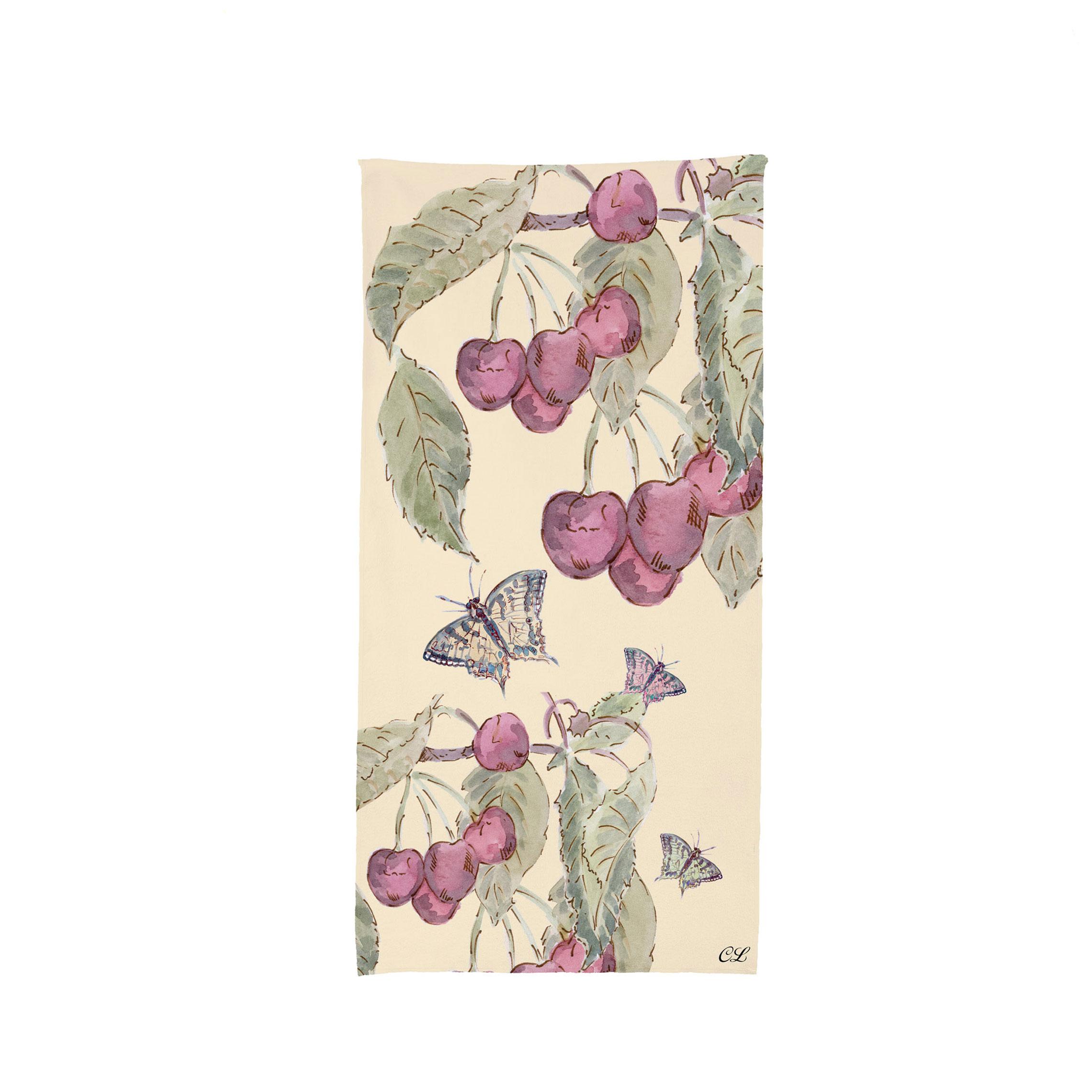 cherries towel