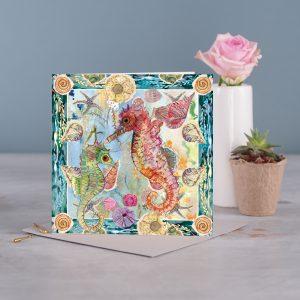 Seahorse Greetings Card