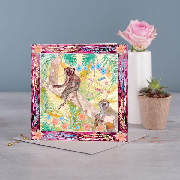 Monkey Greetings Card