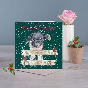 Pig Christmas card
