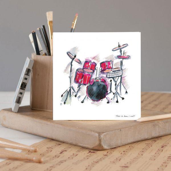 Drum Kit Greetings Card