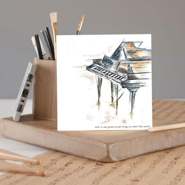 piano greetings card