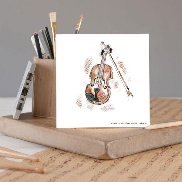 Violin Greetings card