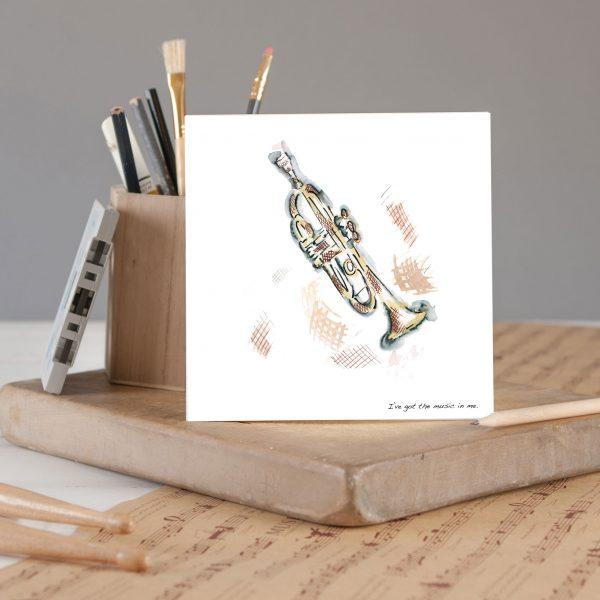 Trumpet Greetings Card