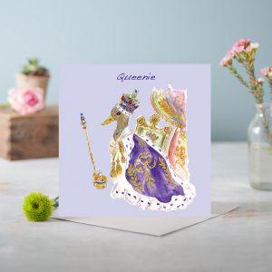 Queenie Greetings Card