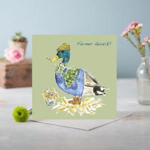 Farmer Quack Greetings Card