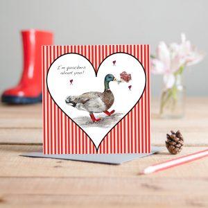 Duck Love Greetings Card